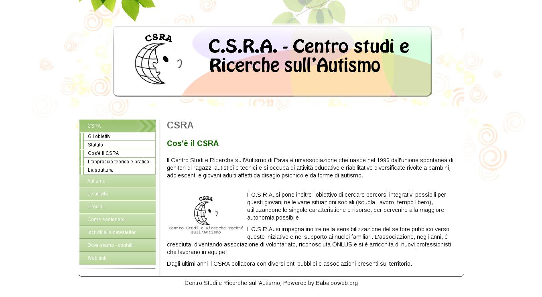 CSRA: Centro Studi e Ricerche sull'Autismo di Pavia