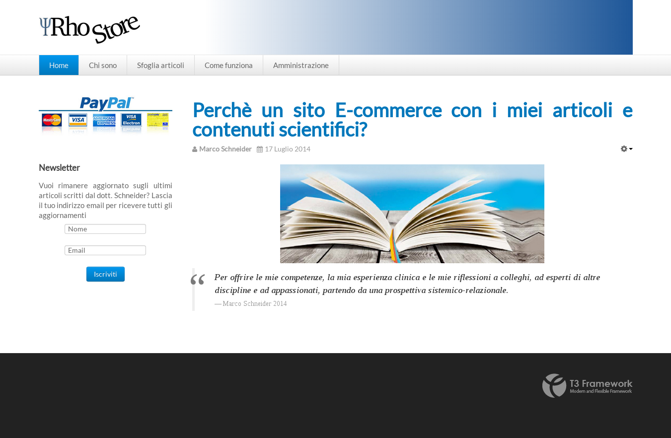 ecommerce dispense psicologiche